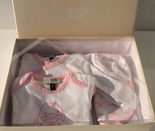 best service vast selection recognized brands ARMANI BABY Mädchen Strampler mit 4 Accessoires in ARMANI ...